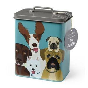 "Burgon & Ball Dog Food/Treat Tin ""The Rabble"""