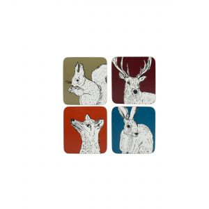 Kitchencraft Creative Tops Coasters - Into The Wild (4PC)
