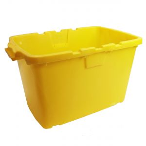 CORAL OUTDOOR RECYCLING/STORAGE BOX - 55L - YELLOW